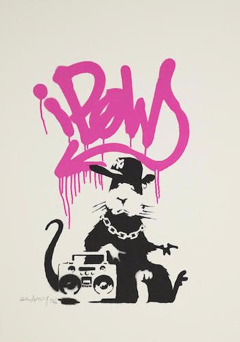 Banksy-Gangsta Rat Pink-2005