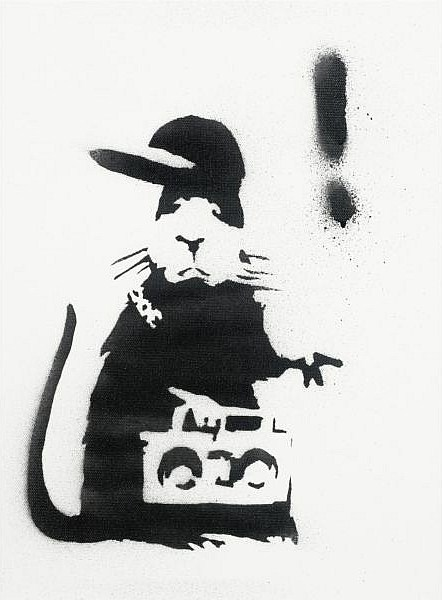 Banksy-Gangster Rat-2004