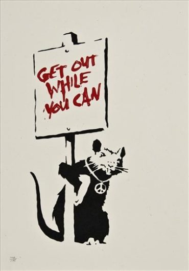 Banksy-Get Out While You Can-2005