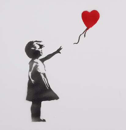Banksy-Girl and Balloon-2003