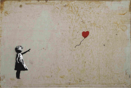 Banksy-Girl and Balloon-2005