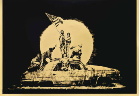 Banksy-Gold Flag-2007