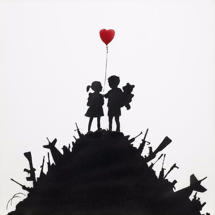 Banksy-Kids on Guns-2003