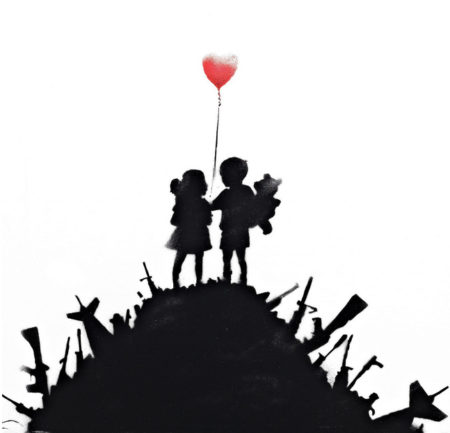 Banksy-Kids on Guns-2013