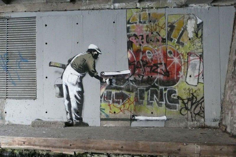 Banksy - King Robbo, December 2009, Camden, London
