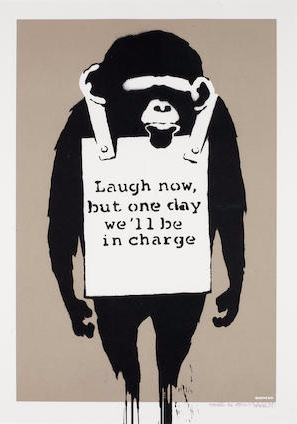 Banksy-Laugh Now (Signed Edition)-2003
