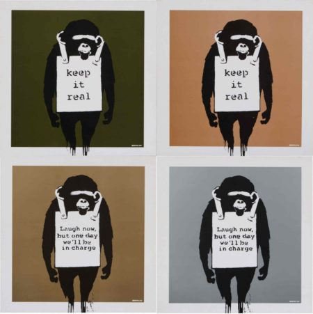 Banksy-Laugh Now but One Day We'll be in Charge, Keep it Real-2008