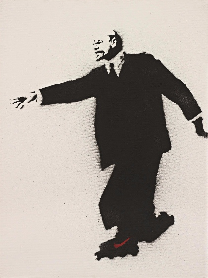 Banksy-Lenin on Rollerskates (Who Put the Revolution on Ice)-2003