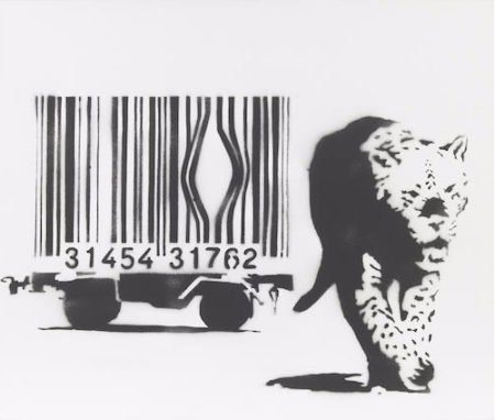 Banksy-Leopard and Barcode-2002