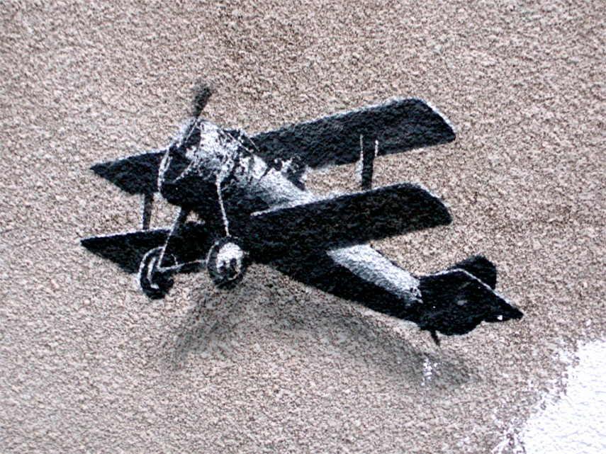 Banksy - Love Plane (detail), Liverpool, UK, 2011