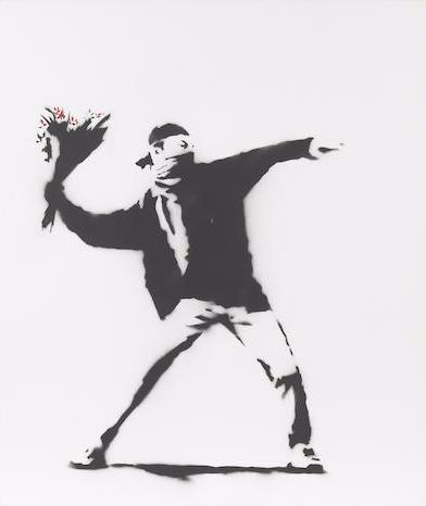 Banksy-Love is in the Air-2002