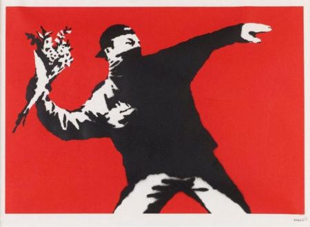Banksy-Flower Thrower (Love is in the Air)-2003