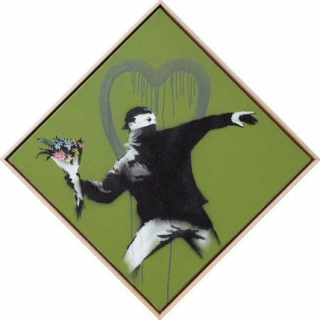 Banksy-Love is in the Air (AKA Flower Thrower)-2010