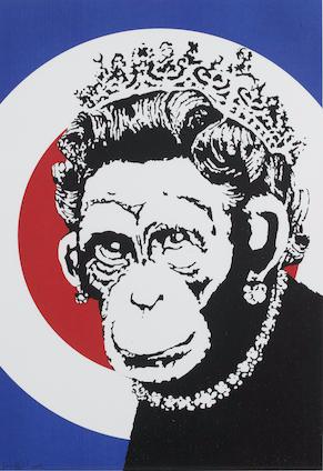 Banksy-Monkey Queen-2003