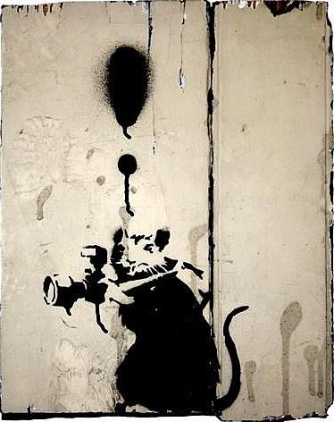Banksy-Paparazzi Rat-