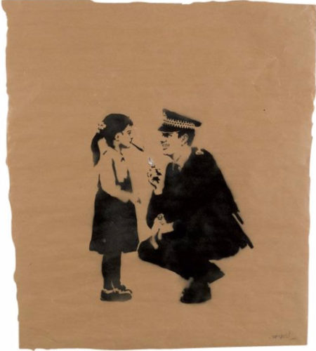 Banksy-Police and Spliff-2005