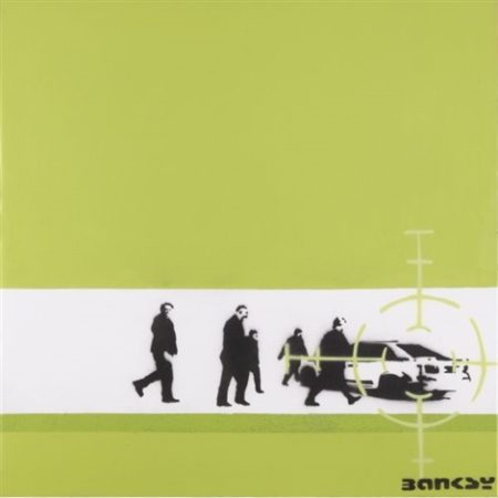 Banksy-Precision Bombing (Green)-2000