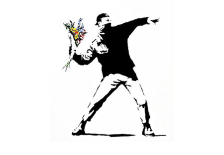 Banksy-Rage, Flower Thrower-