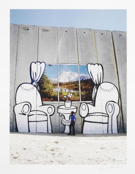 Banksy-Separation Wall, Alpine View-2006