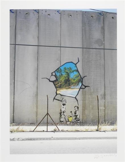 Banksy-Separation Wall, Beach-2006