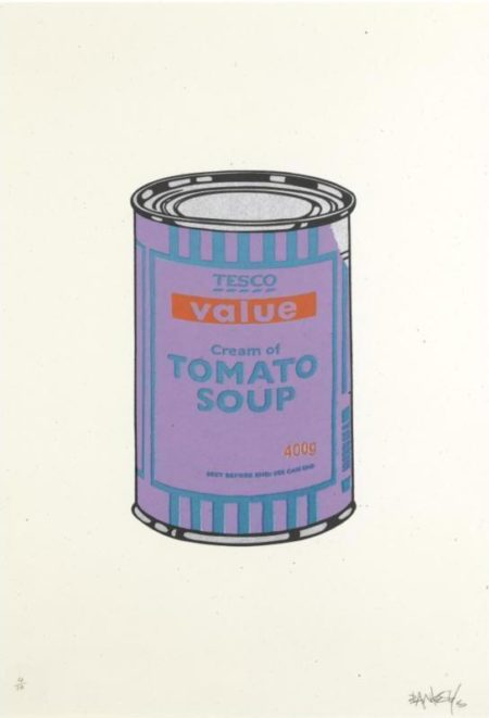 Banksy-Soup Can (Violet Blue)-2005