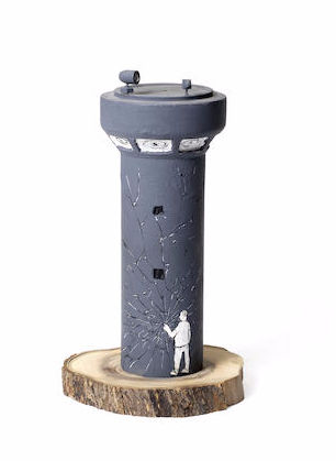 Banksy-Watchtower Collaboration, Blu-2007