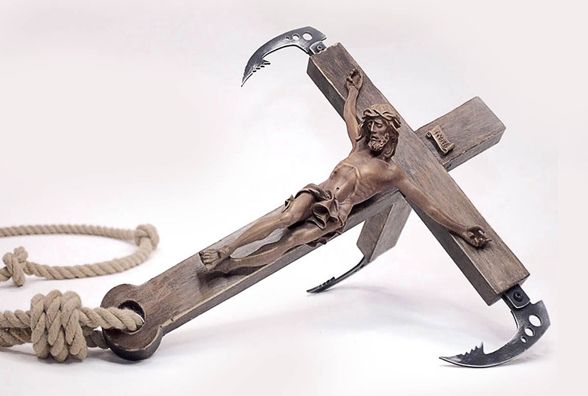 Banksy's Crucifics to be sold at The Walled Off Hotel gift shop
