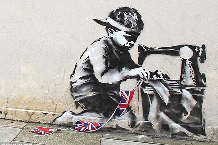 2 banksy murals will auction in september combined for Banksy mural painted over