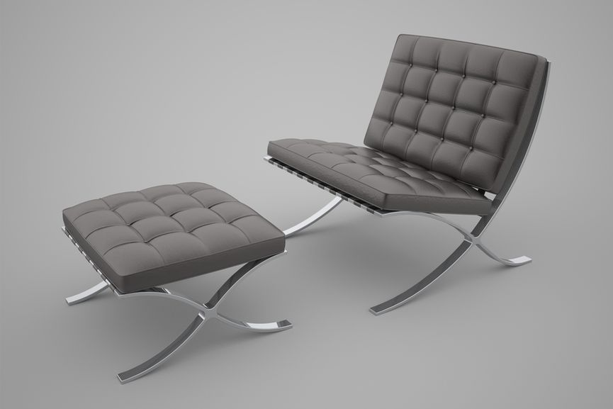 Ludwig Mies van der Rohe Lilly Reich Barcelona Chair German arts dessau 1933