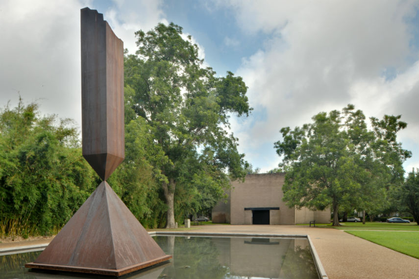 Barnett Newman - Broken Obelisk, Rothko Chapel, 1963-69, Image via enwikipediaorg new york american museum search 1968 new york