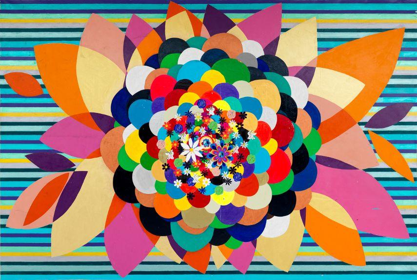 Beatriz Milhazes - Spring Love, 2010 - Image via fondationbeyelerch
