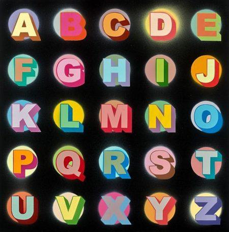 Ben Eine-Arial Spots A-Z-2009