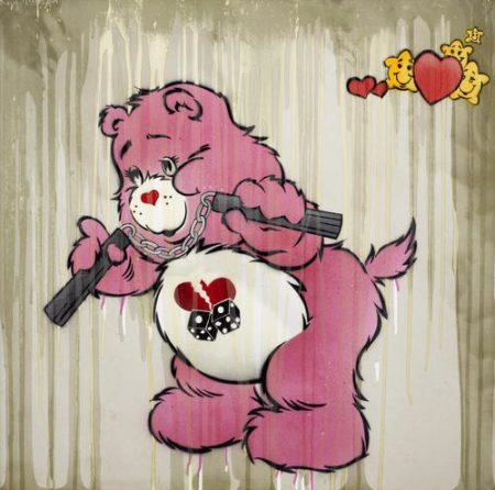 Ben Eine-Carebear With Chuckers Pink-2007