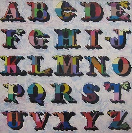 Ben Eine-Glitter Alphabet (Wendy A-Z)-2008