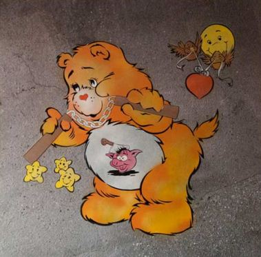 Ben Eine-Scare Bear (Orange)-