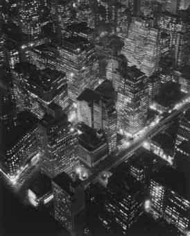 Berenice Abbott-Nightview, New York at Night, Empire State Building-1932