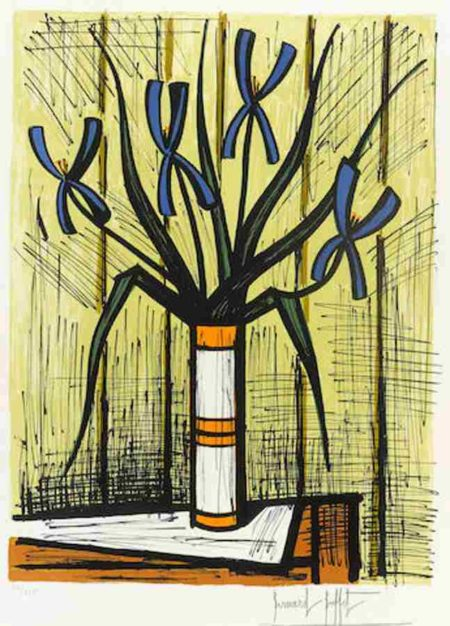 Bernard Buffet-Les Iris Bleus-1983