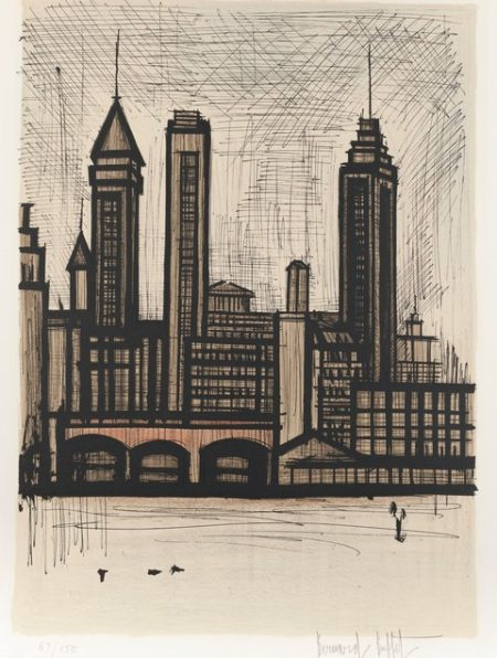 Bernard Buffet-New York (Sorlier 120)-1967