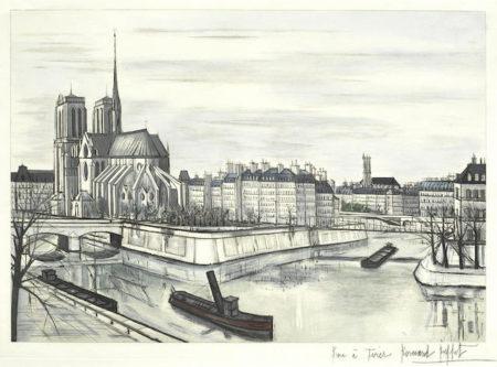 Bernard Buffet-Notre Dame et la Cite-