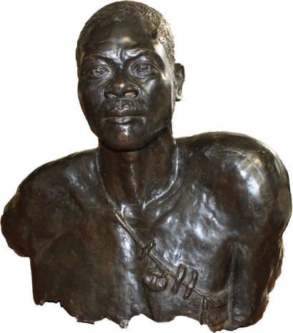 Bernardin-Buste de guerrier Massai-1930