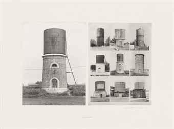 Bernd and Hilla Becher-Wasserturme (Sezanne F) (Water towers (Sezanne F))-1973