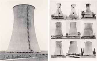 Bernd and Hilla Becher-Wasserturme (Cooling Towers)-1973