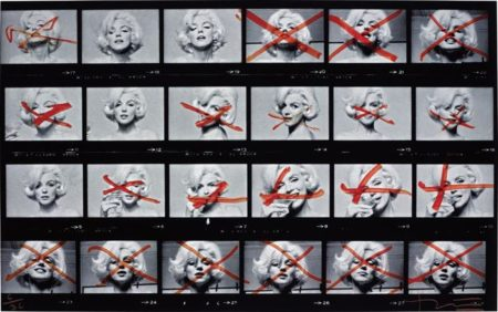 Bert Stern-Marilyn Monroe from The Last Sitting (Contact Sheet)-1962