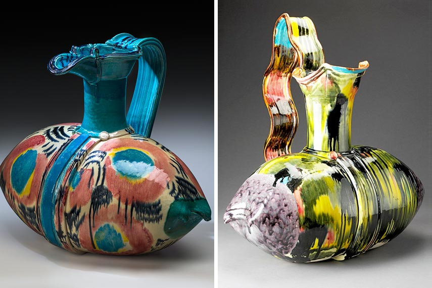 exhibition view of glazed vase works use at home theatre of institute of ICA press arts