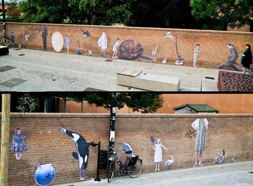 Bifido - Behind the green door - Cheap Festival, Bologna, Italy, 2015, street art, mural