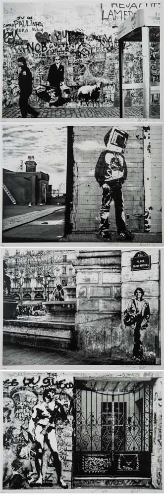 Blek le Rat-Sybille Prou-Shepard Fairey-Blek Le Rat, Sybille Prou and Shepard Fairey - Art Is Not Peace But War-2008