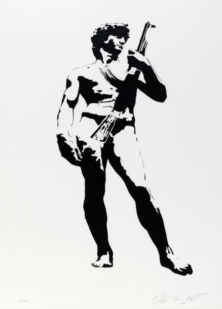 Blek le Rat-David with Kalashnikoff-2007