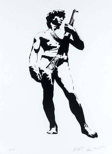 Blek le Rat-David with Kalashnikov-2007
