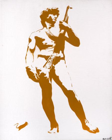 Blek le Rat-David with Kalashnikov-2008