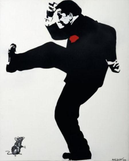 Blek le Rat-Homme cassant le mur-